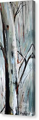 Canvas Print featuring the painting Single Aspen by Cher Devereaux