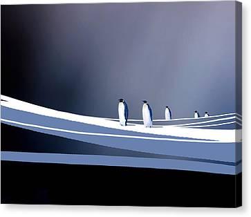 Single File Canvas Print by Paul Sachtleben