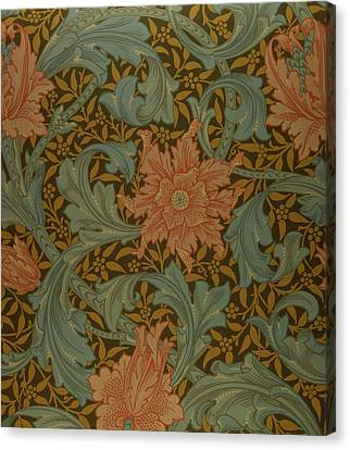 'single Stem' Wallpaper Design Canvas Print by William Morris