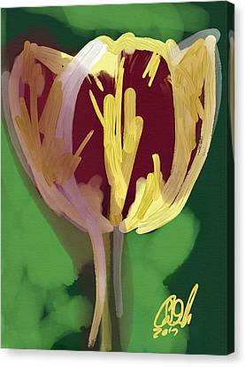 Indian Ink Canvas Print - Single Tulip by Carl Griffasi