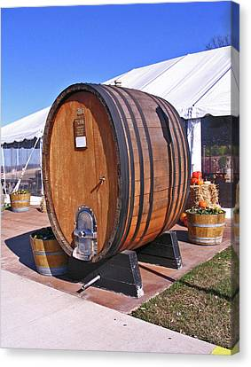 Single Wine Barrel Canvas Print by Marian Bell