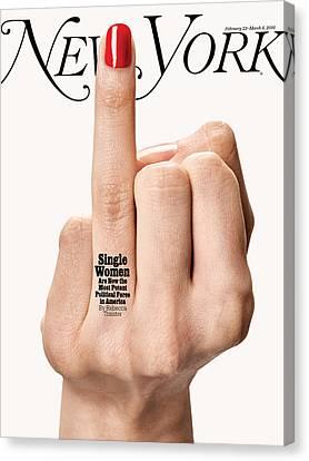 Political Canvas Print - Single Women by Bobby Doherty