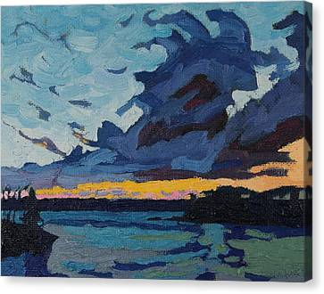 Singleton Sunset Stratocumulus Canvas Print by Phil Chadwick