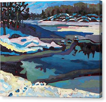 Realism Canvas Print - Singular Ice And Snow by Phil Chadwick