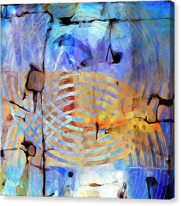 Canvas Print featuring the painting Singularity by Dominic Piperata