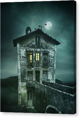 Thriller Canvas Print - Sinister Old House by Carlos Caetano