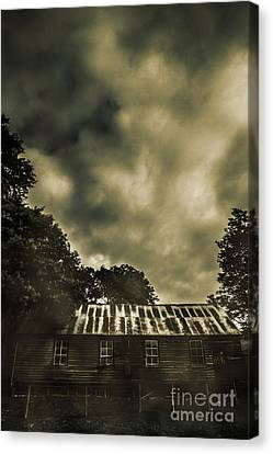 Sombre Canvas Print - Sinister Outback Farmhouse by Jorgo Photography - Wall Art Gallery