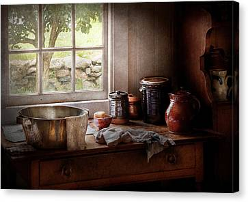 Sink - The Morning Chores Canvas Print by Mike Savad