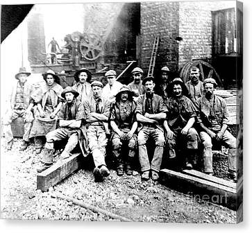 Sinkers,rossington Colliery,1915 Canvas Print