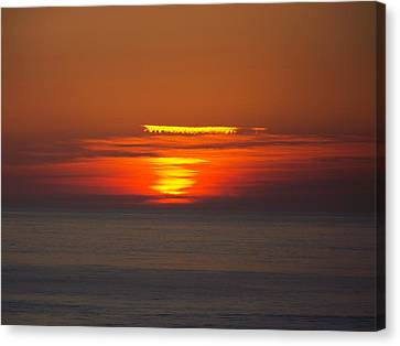Sinking Sun Canvas Print by Angi Parks