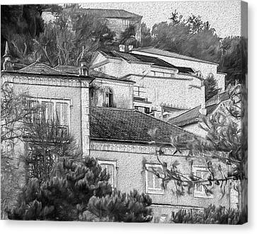 Canvas Print featuring the photograph Sintra In Black And White by Julie Palencia