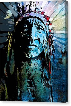 Sioux Chief Canvas Print by Paul Sachtleben