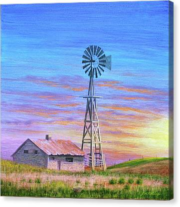 Sioux County Sunrise Canvas Print by J W Kelly