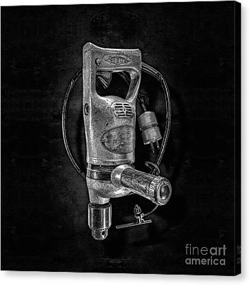 Sioux Drill Motor 1/2 Inch Bw Canvas Print by YoPedro