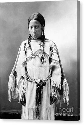 Sioux Girl, C1900 Canvas Print
