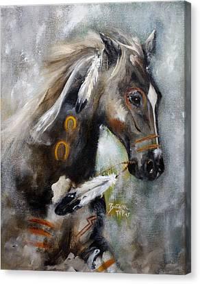 Sioux War Pony Canvas Print by Barbie Batson