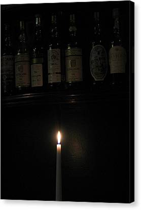 Sipping By Candlelight Canvas Print by Staci-Jill Burnley