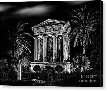 Sir Alexander Ball Monument In Valletta Canvas Print by Stephan Grixti