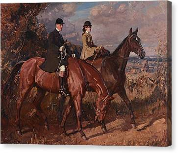 Sir Alfred James Munnings Canvas Print