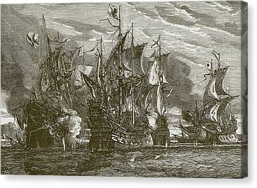 Sir Andrew Wood's Victory Canvas Print