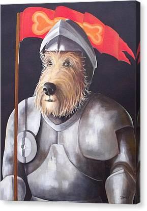 Sir Barksalot Canvas Print by Diane Daigle