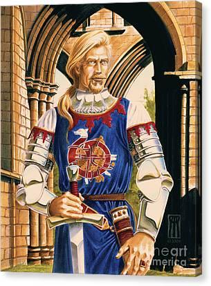 Sir Dinadan Canvas Print by Melissa A Benson