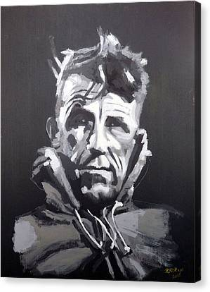 Canvas Print featuring the painting Sir Edmund Hillary by Richard Le Page
