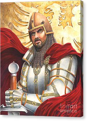 Sir Gawain Canvas Print by Melissa A Benson