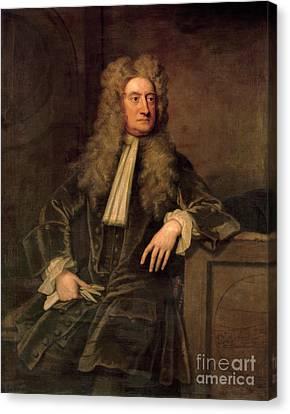 Physicist Canvas Print - Sir Isaac Newton  by Sir Godfrey Kneller