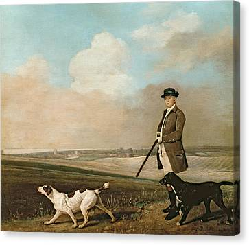 Dog In Landscape Canvas Print - Sir John Nelthorpe by George Stubbs