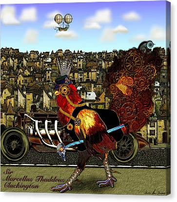 Sir Marcellus Thaddeus Cluckington Canvas Print by Iowan Stone-Flowers