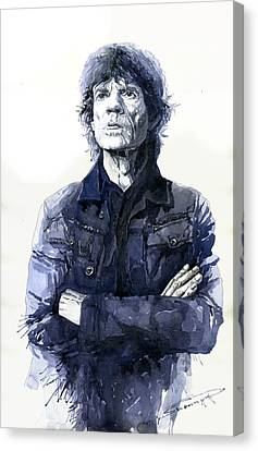 Mick Jagger Canvas Print - Sir Mick Jagger by Yuriy Shevchuk