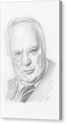 Astronomical Canvas Print - Sir Patrick Moore by Keith Miller