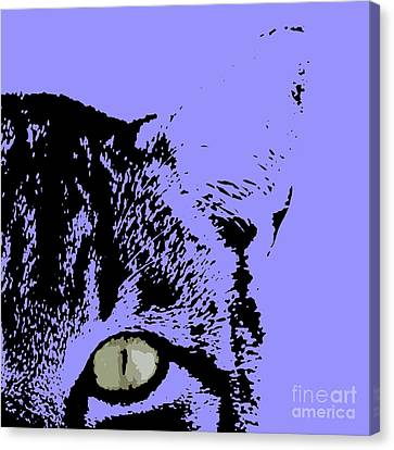 Sir Rodgerson On Purple Background Canvas Print by Pablo Franchi