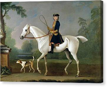Sir Roger Burgoyne Riding 'badger' Canvas Print by James Seymour