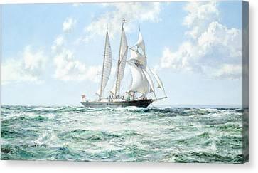 Sir Winston Churchill Canvas Print by Montague Dawson
