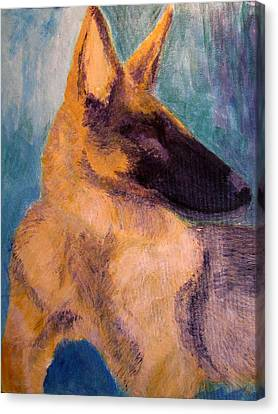 Canvas Print featuring the painting Sirius Canis Major by Barbara Giordano