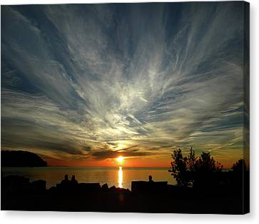Sister Bay Sunset Canvas Print