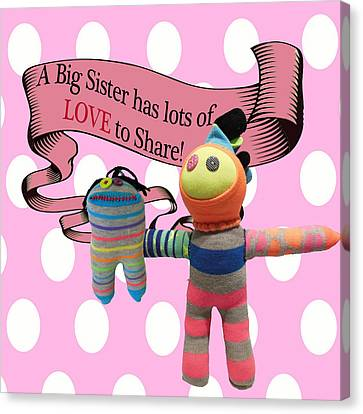 Sister Love Canvas Print by Ellen Silberlicht