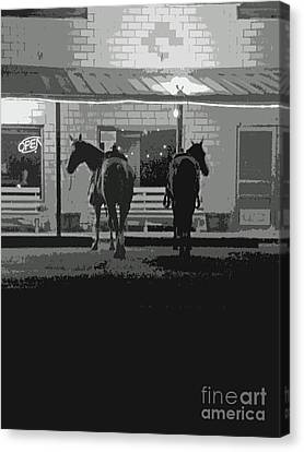 Sisterdale Saturday Night Canvas Print