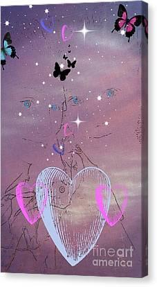 Sisterly Love Canvas Print by Diamante Lavendar