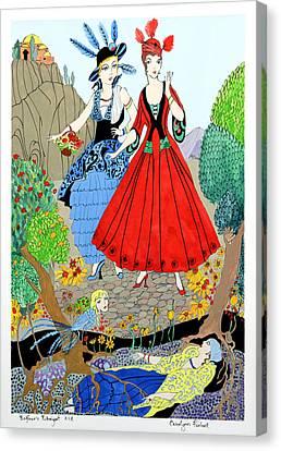 Rubaiyat Canvas Print - Sisters by Carolynn Fischel