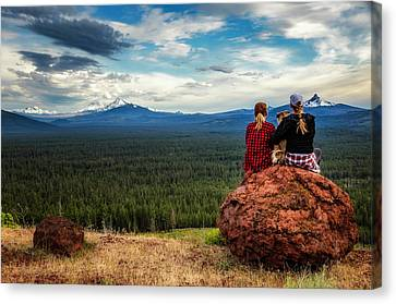 Canvas Print featuring the photograph Sisters by Cat Connor