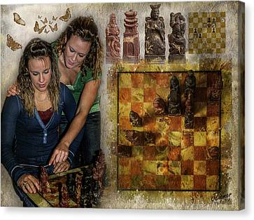 Sisters - Checkmate In 2 Canvas Print by Jim Ziemer