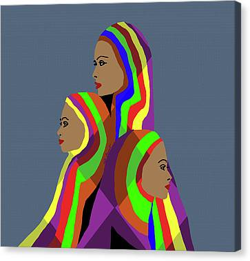 Sisters Canvas Print by Kate Farrant