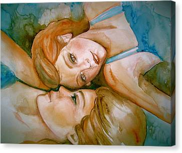 Sisters Canvas Print by L Lauter