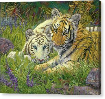 Sisters Canvas Print by Lucie Bilodeau