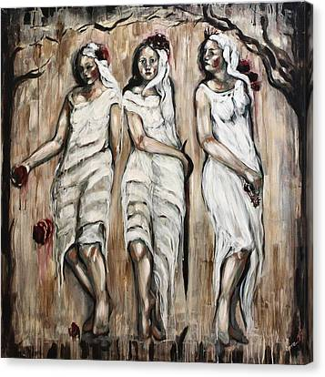 Sisters Of Mercy Canvas Print by Carrie Joy Byrnes