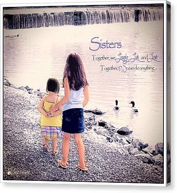 Tom Schmidt Canvas Print - Sisters by Tom Schmidt