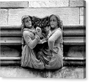 Sisters With A Cause Gargoyle Univ Of Chicago 2009 Canvas Print